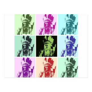Arte pop Geronimo Tarjeta Postal