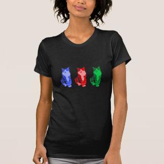 Arte pop gruñón del gato camiseta