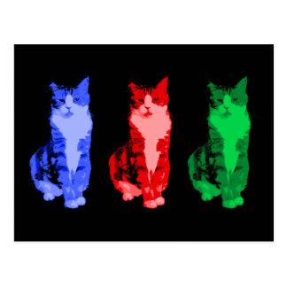 Arte pop gruñón del gato tarjetas postales