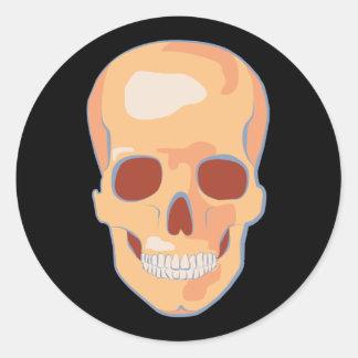 Arte pop humano del cráneo pegatina redonda