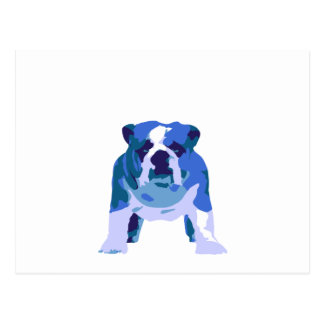 Arte pop inglés del dogo tarjeta postal