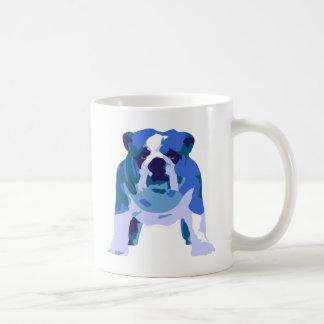 Arte pop inglés del dogo taza de café