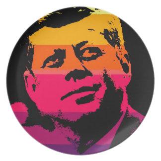 Arte pop Jack JFK John F. Kennedy Plato De Comida