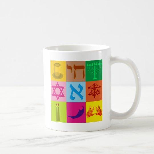 Arte pop judío taza de café