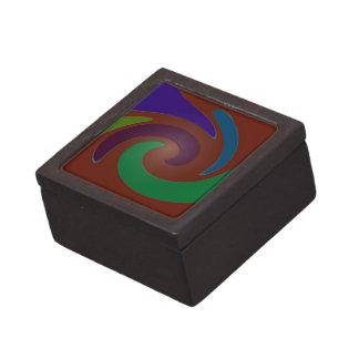 arte pop marrón colorido caja de recuerdo de calidad