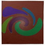 Arte pop marrón colorido servilletas imprimidas