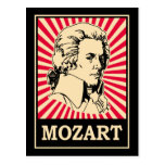 Arte pop Mozart Postales