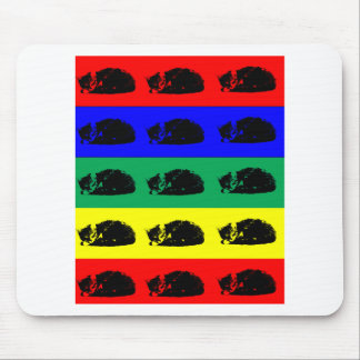 Arte pop múltiple del gato de Tabby Alfombrillas De Raton