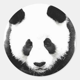 Arte pop negro y blanco del pegatina redondo de la pegatina redonda