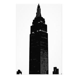 Arte pop negro y blanco Nueva York Personalized Stationery