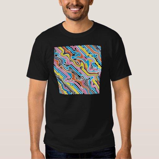 Arte pop ningún extracto 1 colorido camisas