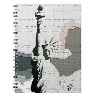 Arte pop Nueva York - señora Liberty Notebook