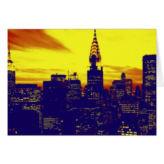 Arte pop Nueva York Tarjetas