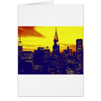 Arte pop Nueva York Tarjeta De Felicitación