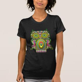 Arte pop psicodélico del búho camisetas