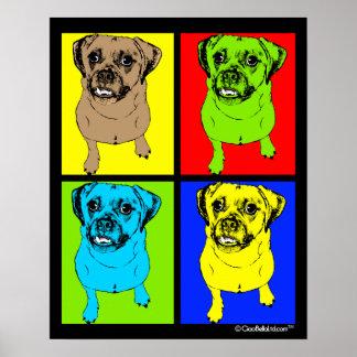 Arte pop Puggle Poster
