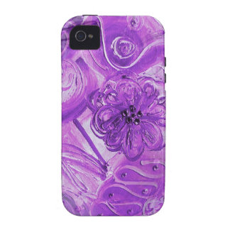 Arte pop púrpura iPhone 4 carcasas