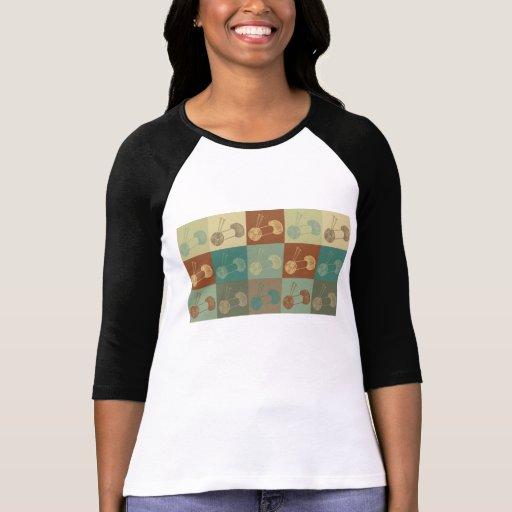 Arte pop que hace punto camiseta