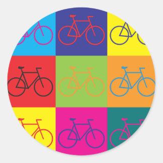 Arte pop que monta en bicicleta pegatinas