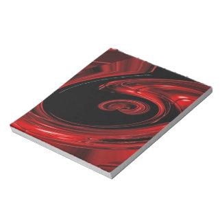 """Arte pop rojo y negro de la """"nebulosa"""" blocs de notas"""