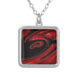 """Arte pop rojo y negro de la """"nebulosa"""" collares"""