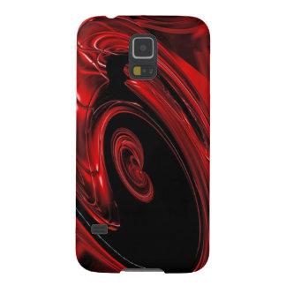 """Arte pop rojo y negro de la """"nebulosa"""" carcasa para galaxy s5"""