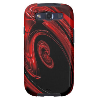 """Arte pop rojo y negro de la """"nebulosa"""" galaxy s3 protectores"""