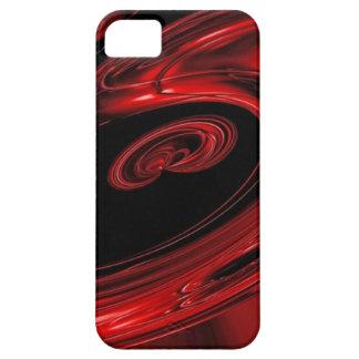 """Arte pop rojo y negro de la """"nebulosa"""" iPhone 5 carcasas"""
