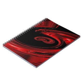 """Arte pop rojo y negro de la """"nebulosa"""" libros de apuntes con espiral"""