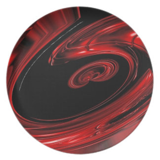 """Arte pop rojo y negro de la """"nebulosa"""" platos de comidas"""