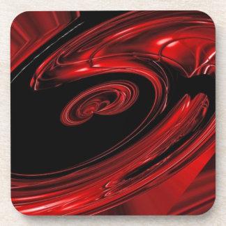 """Arte pop rojo y negro de la """"nebulosa"""" posavaso"""
