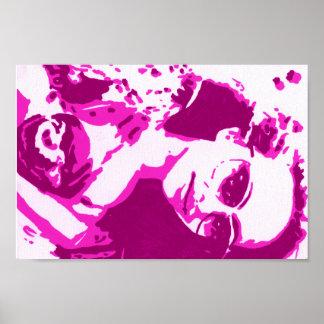 Arte pop rosado del jade póster