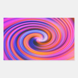 Arte pop rosado del remolino del color etiquetas
