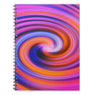 Arte pop rosado del remolino del color libretas