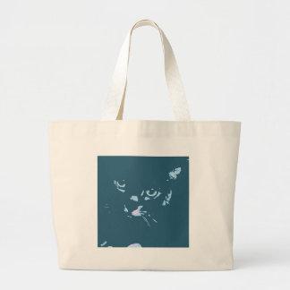 Arte pop ruso del gato azul bolsas de mano