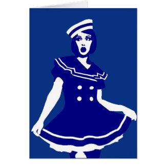 Arte pop - Seemannsbraut atractivo marítimo Tarjeta De Felicitación