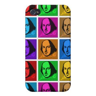 Arte pop Shakespeare iPhone 4 Protectores