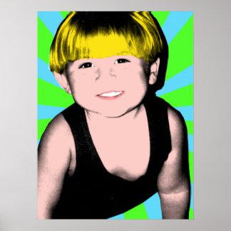 Arte pop terminado Little Boy Poster