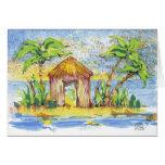 Arte pop tropical de la choza felicitaciones