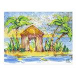 Arte pop tropical de la choza postal