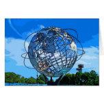 Arte pop Unisphere Tarjeton