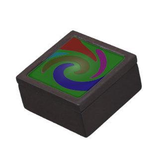 arte pop verde colorido caja de recuerdo de calidad