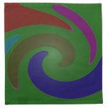 arte pop verde colorido servilleta imprimida