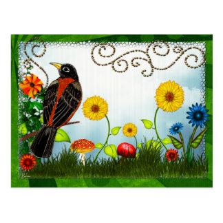 Arte popular caprichoso de la observación de tarjetas postales