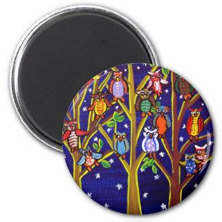 Arte popular caprichoso del fiesta del búho iman