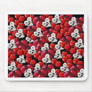 Arte popular colorido del ajo de los tomates del v mouse pads