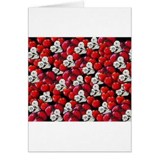 Arte popular colorido del ajo de los tomates del v tarjeta de felicitación