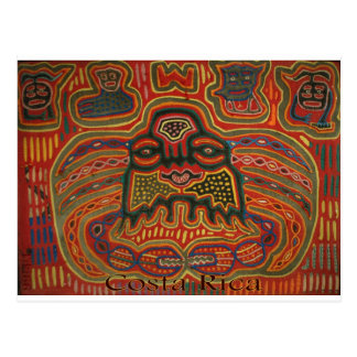 Arte popular Costa Rica Postal