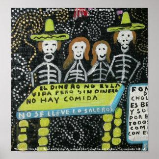 Arte popular de Guanajuato, Día de los Muertos Póster
