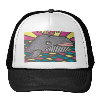 Arte popular de la ballena Hearted grande Gorro De Camionero